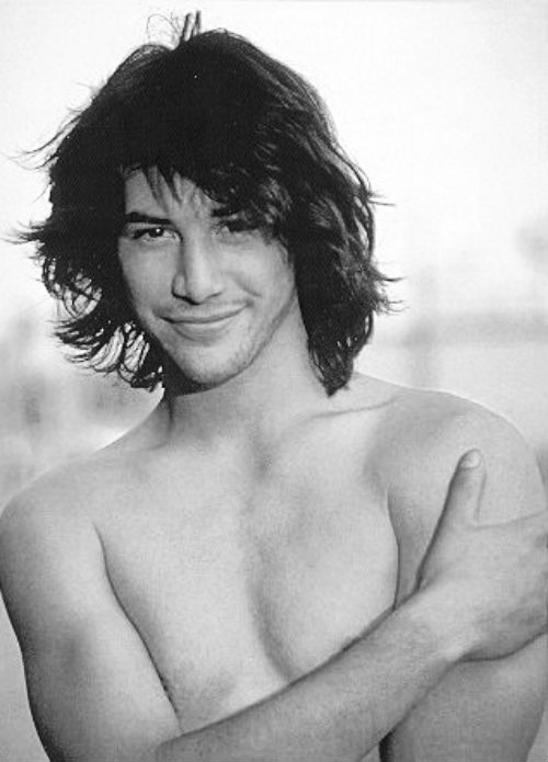Keanu young and shirtless